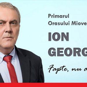 Ion Georgescu: Mioveni, micul oraș muncitoresc, s-a transformat într-o comunitate recunoscută la nivel European