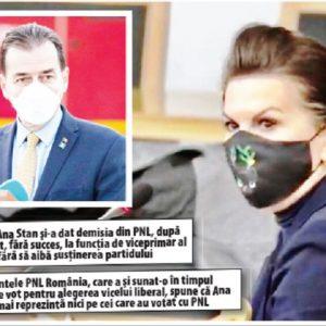 """Ludovic Orban: """"Ana Stan s-a plasat în afara partidului! Nu mai reprezintă PNL-ul!"""