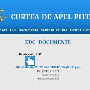 Curtea de Apel Piteşti dă startul Aplicaţiei electronice cu semnătură extinsă (EDC)/Dosarul tău la un click distanţă!