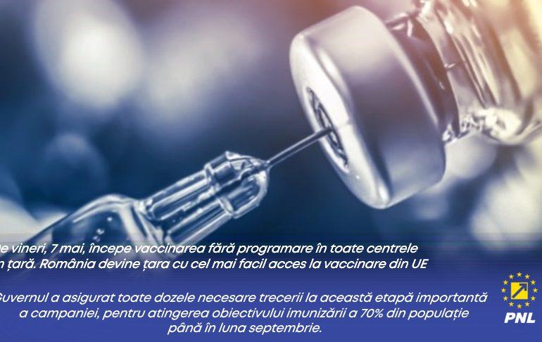 Guvernul Liberal mai face un pas pentru imunizarea rapidă a populatiei: vaccinare fără programare!